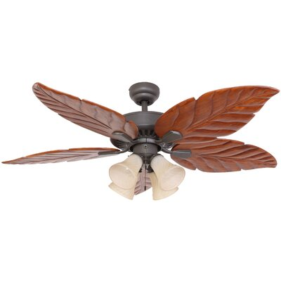 52 Kay Indoor 5 Blade Ceiling Fan with Remote Motor Finish: Bronze