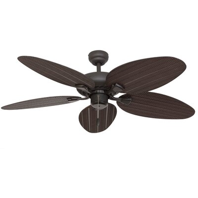 52 Kalea 5 Blade Outdoor Ceiling Fan with Remote Finish: Bronze