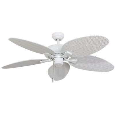 52 Kalea 5 Blade Outdoor Ceiling Fan with Remote Color: White