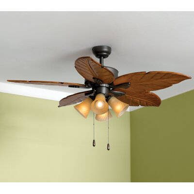 52 St. Marks 4-Light 5-Blade Ceiling Fan