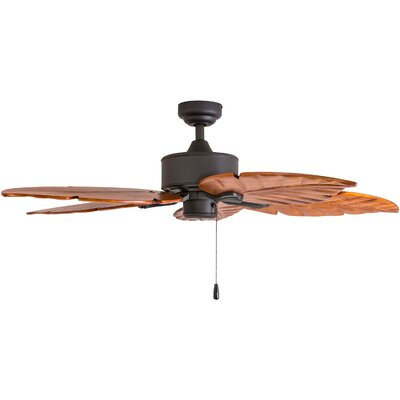 52 Palmdale Hand-Carved 5 Blade Ceiling Fan