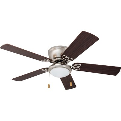 52 Bories 5 Blade LED Ceiling Fan Finish: Brushed Nickel