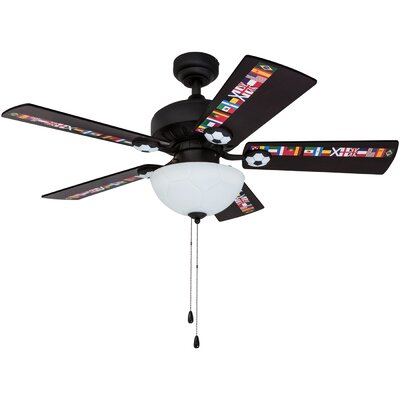 42 Golding Soccer 5 Blade LED Ceiling Fan