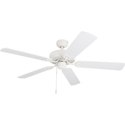 52 Cumberbatch 5 Blade LED Ceiling Fan Finish: White