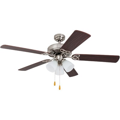 52 Cumberbatch 5 Blade LED Ceiling Fan Finish: Brushed Nickel