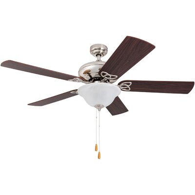 52 Crossville 5 Blade LED Ceiling Fan Finish: Brushed Nickel