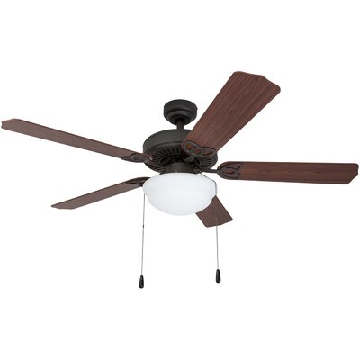52 Crownover 5 Blade LED Ceiling Fan Finish: Bronze