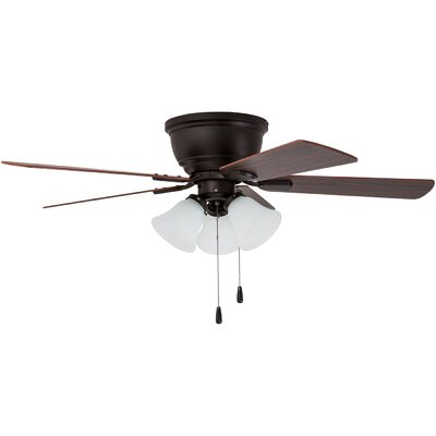 46 Crumpton 5 Blade LED Ceiling Fan Finish: Bronze