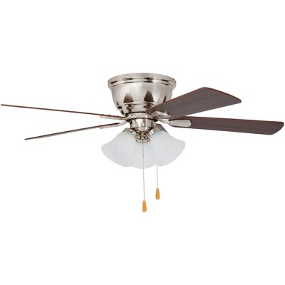 46 Crumpton 5 Blade LED Ceiling Fan Finish: Brushed Nickel