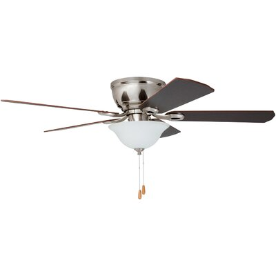 52 Espinosa 5 Blade LED Ceiling Fan with Remote Control Finish: Brushed Nickel