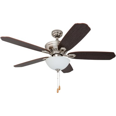 52 Tomczyk 5 Blade LED Ceiling Fan Finish: Brushed Nickel