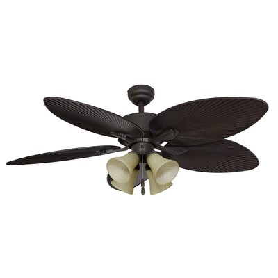 52 Palmira 4-Light 5-Blade Ceiling Fan Finish: Bronze