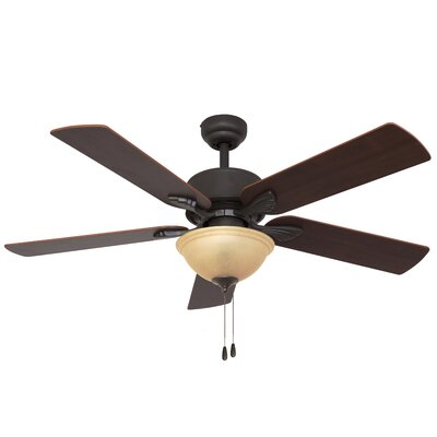 52 Batson Bowl Light 5-Blade Ceiling Fan