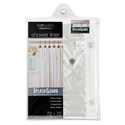 Bath Bliss Plastic Splash Guard Shower Liner Color: Clear