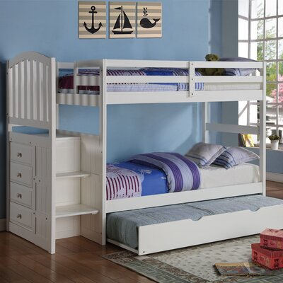 Donco Kids Twin Bunk Bed with Trundle