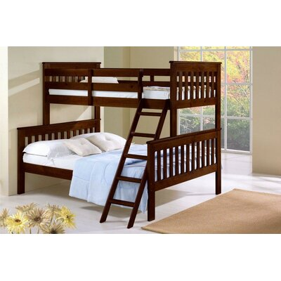Twin over Full Standard Bunk Bed Finish: Dark Cappuccino