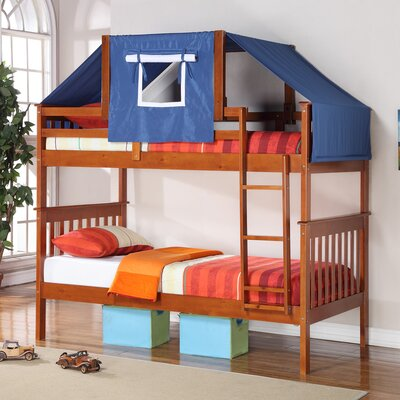 Donco Kids Twin over Twin Bunk Bed Color: Espresso