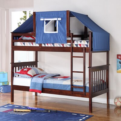 Donco Kids Twin over Twin Bunk Bed Color: Cappuccino