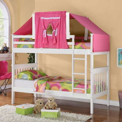Twin Standard Bunk Bed Finish: White