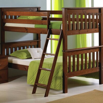 Donco Kids Twin Bunk Bed Finish: Light Espresso