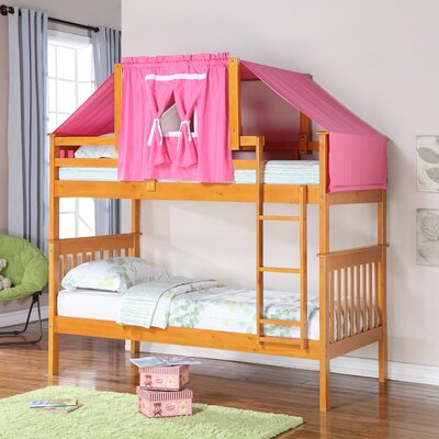 Twin Standard Bunk Bed Finish: Honey