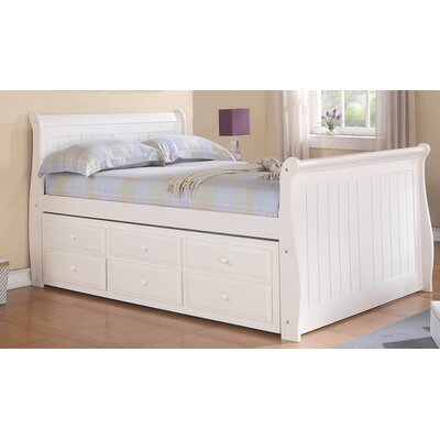 Donco Kids Sleigh Bed with Trundle and Storage Size: Full