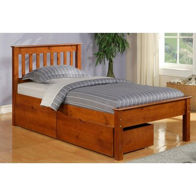 Donco Kids Twin Slat Bed with Storage