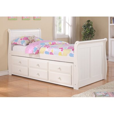 Donco Kids Sleigh Bed with Trundle and Storage Size: Twin