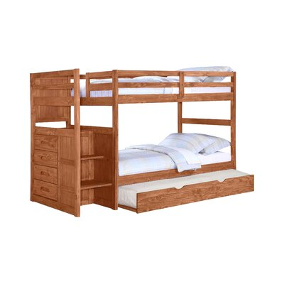 Ranch Twin Bunk Bed with Trundle and Storage