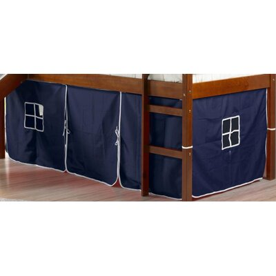 Curtain Set for Twin Loft Bed Color: Blue