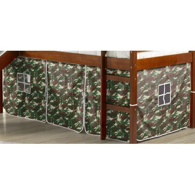 Curtain Set for Twin Loft Bed Color: Camo