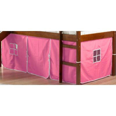 Curtain Set for Twin Loft Bed Color: Pink