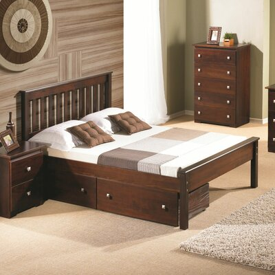 Contempo Full/Double Storage Platform Bed Finish: Dark Cappuccino
