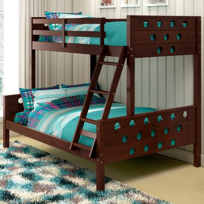 Twin over Full Bunk Bed Finish: Cappuccino