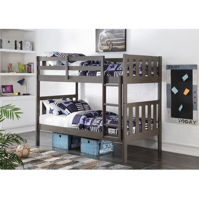 Wide Mission Twin Bunk Bed