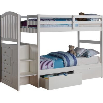 Donco Kids Twin over Twin Bunk Bed with Storage