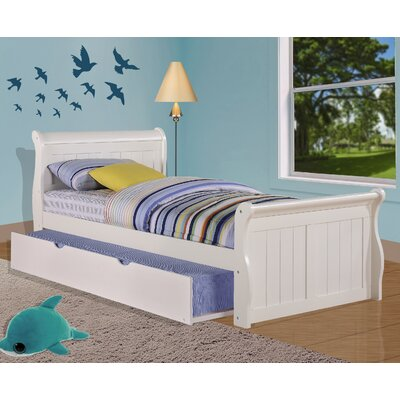 Sleigh Bed with Twin Trundle Size: Full