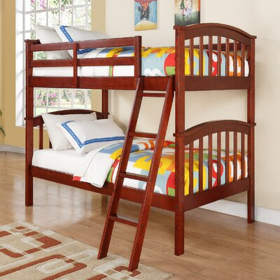 Columbia Twin Slat Bunk Bed Color: Cherry