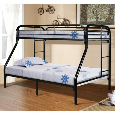 Twin Slat Bunk Bed Color: Black