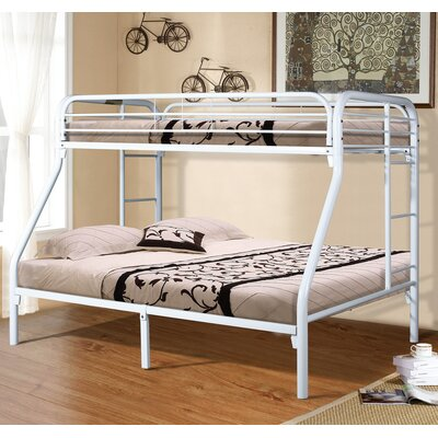Twin Slat Bunk Bed Color: White