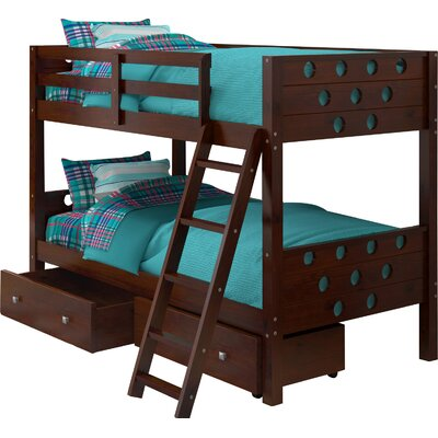 Twin Bunk Bed with Storage Finish: Cappuccino
