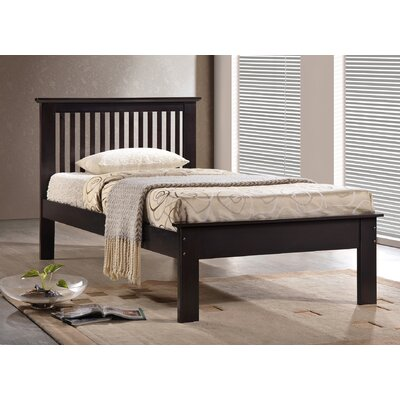 Donco Kids Twin Slat Bed Finish: Light Espresso