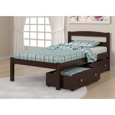 Econo Full/Double Storage Platform Bed Size: Twin, Finish: Dark Cappuccino