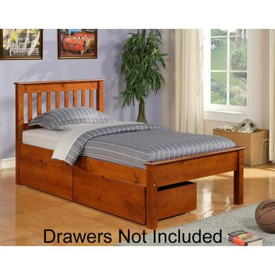 Contempo Full/Double Platform Bed Finish: Light Espresso