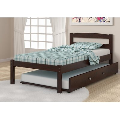 Econo Full/Double Platform Bed Size: Twin, Finish: Dark Cappuccino