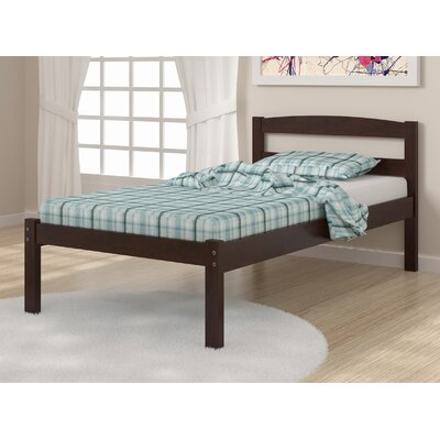 Econo Full/Double Platform Bed Size: Full, Finish: Dark Cappuccino