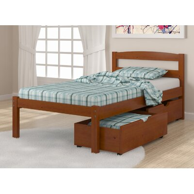 Econo Full/Double Storage Platform Bed Finish: Light Espresso, Size: Full