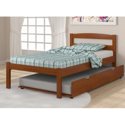 Econo Full/Double Platform Bed Finish: Light Espresso, Size: Full