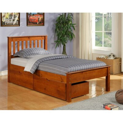Contempo Full/Double Storage Platform Bed Finish: Light Espresso