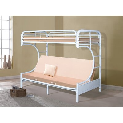 Twin Futon Bunk Bed Color: White